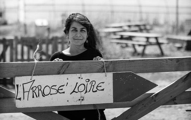 Photo en noir et blanc avec l'Arrose'Loire écrit dessus