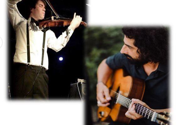 un violoniste et un guitariste du groupe jam zanouch