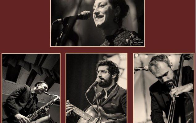 quatres musiciens d'un groupe de jazz